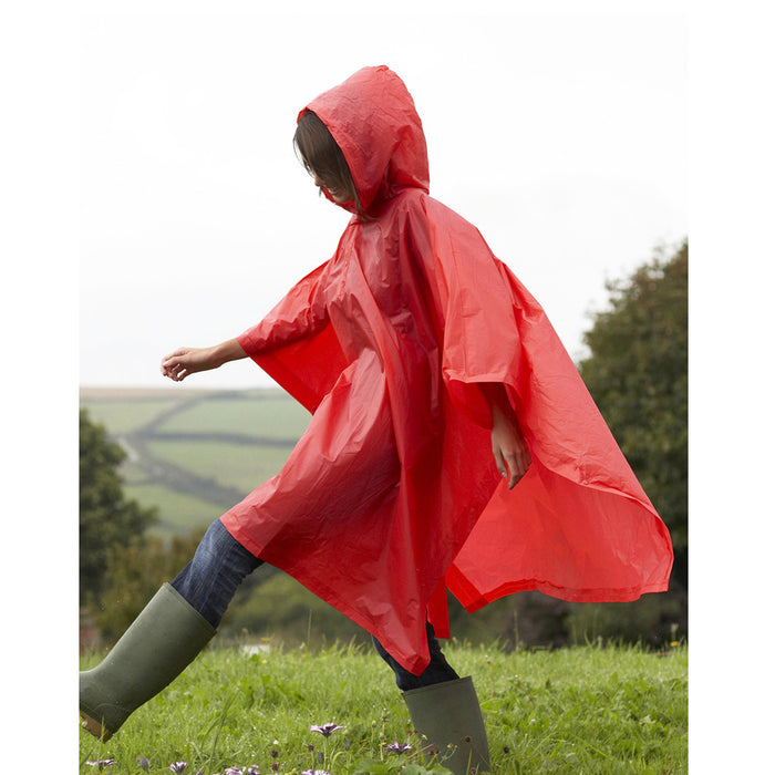 2 Emergency Rain Poncho Reusable Rain Hooded Rain Coat Outdoor One Size Fits All