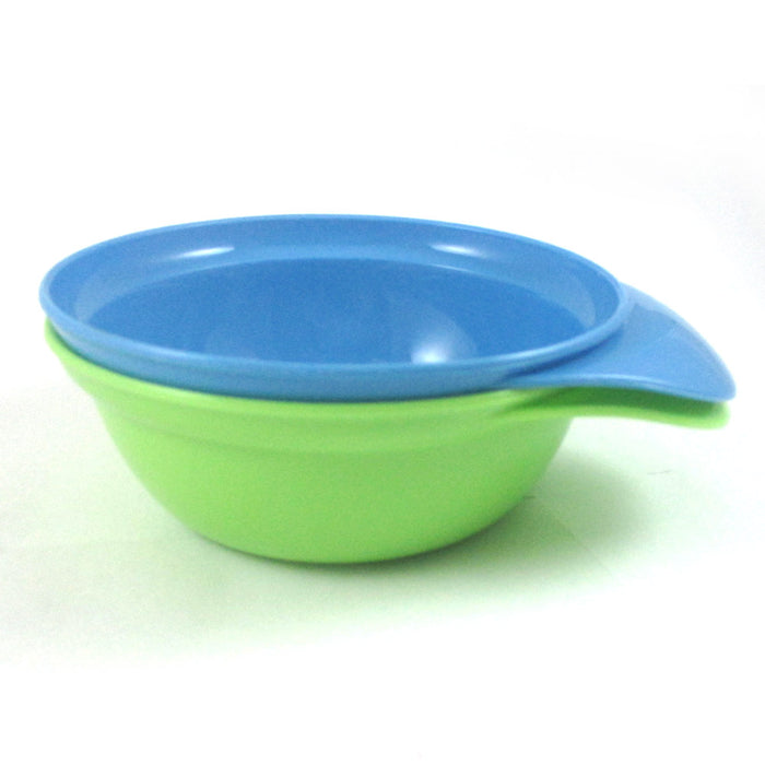 2 Pc Baby Feeding Bowl Dish Set Toddler Dinning Kid Feed Plate Child BPA Free