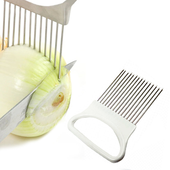 Onion Holder Slicer Vegetable Tools Tomato Cutter Aid Kitchen Gadgets Peel Guide