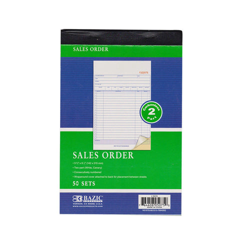 1 Carbonless Sales Order Receipt Record Book 2 Part 50 Sets Duplicate Copy !