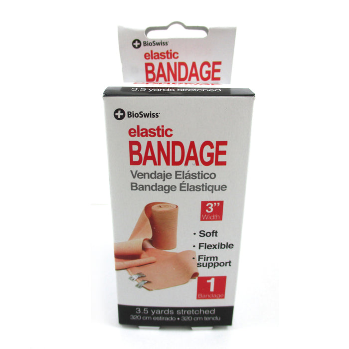 Elastic Bandages 3 Inch Clip Body Wrap Ankle Wrist Foot Sport Emergncy First Aid