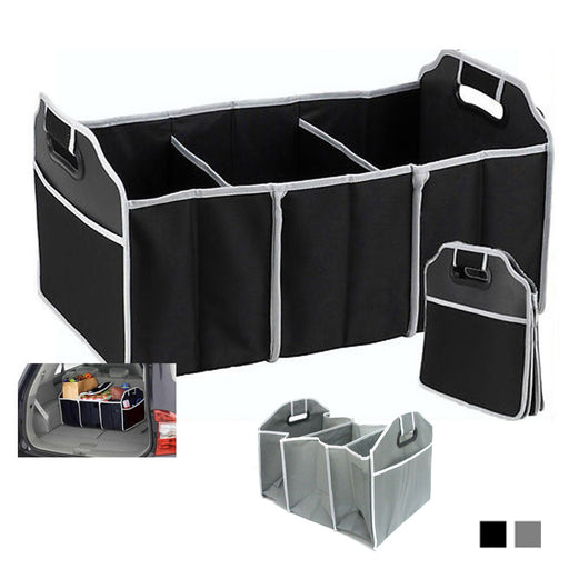 Trunk Organizer Collapsible Folding Caddy Car Truck Auto Storage Bin Bag New !