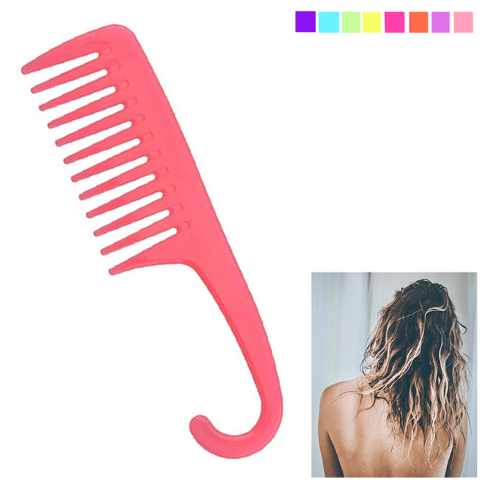 1 X Shower Comb Hair Wide Tooth Dry Wet Gently Detangles Thick Long Detangling