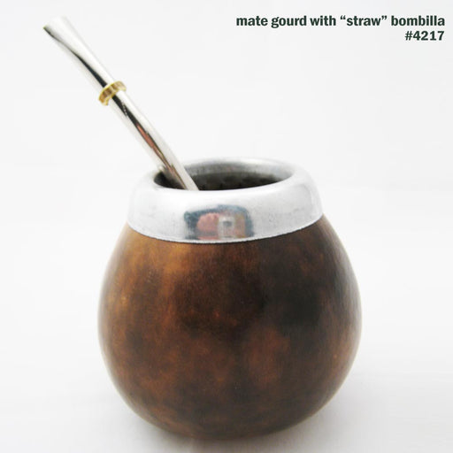 Argentina Mate Gourd Bombilla Filtered Straw Cup Tea Healthy Herbal Detox 4217