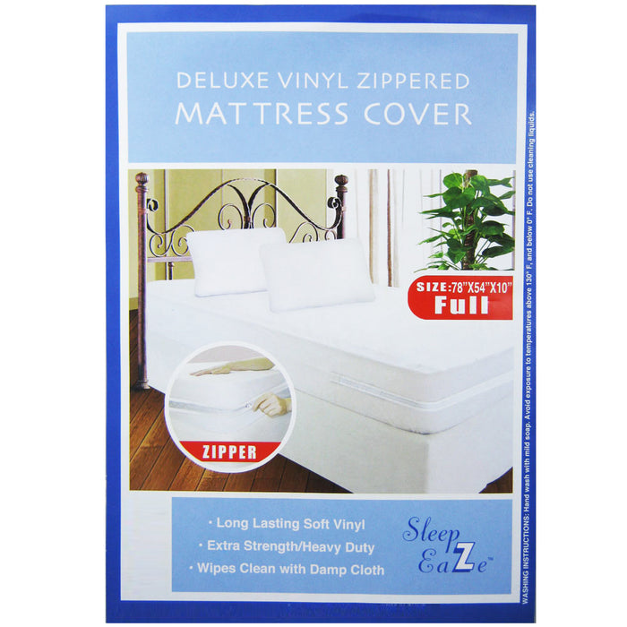 2 Full Size Bed Mattress Cover Zipper Plastic Dustproof Water Resistant Anti Bug