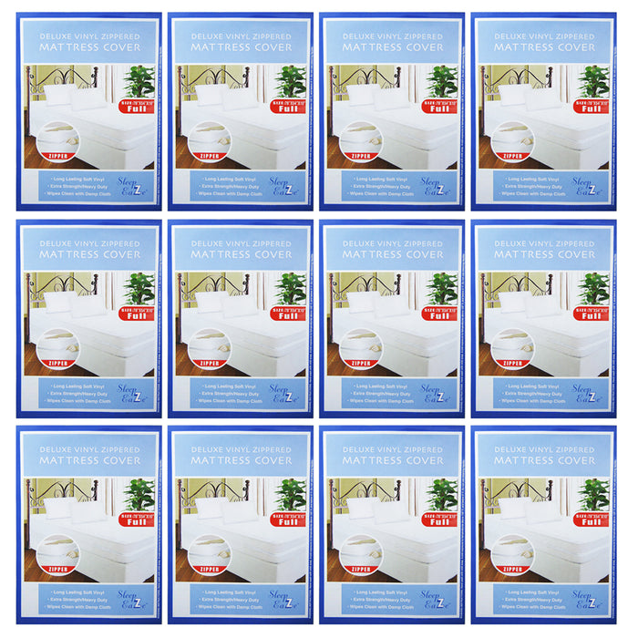 12 Lot Full Size Bed Mattress Cover Zipper Plastic Dustproof Water Resistant Bug
