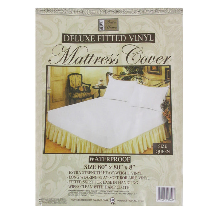 2 Premium Queen Size Mattress Soft Protect Waterproof Fitted Bed Cover Anti Dust