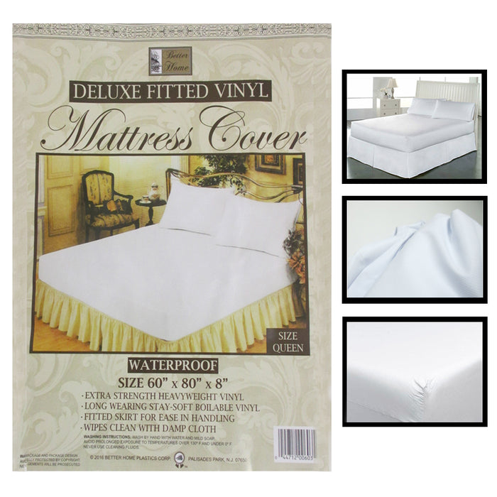 12 Lot Premium Queen Size Mattress Soft Protect Waterproof Fitted Bed Cover Dust