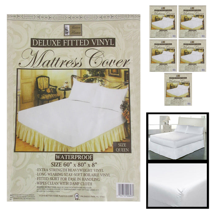 6 Premium Queen Size Mattress Soft Protect Waterproof Fitted Bed Cover Anti Dust