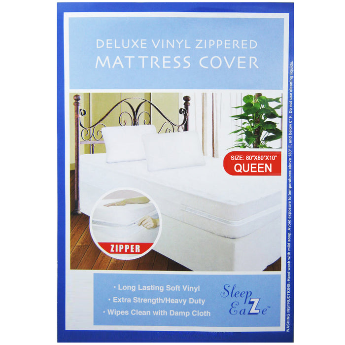 6X Queen Size Zippered Mattress Cover Protector Dust Anti Bug Allergy Waterproof