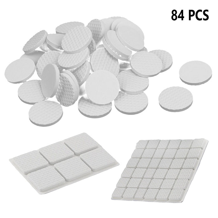 84 Pc Anti Skid Rubber Furniture Protection Pads Self Adhesive