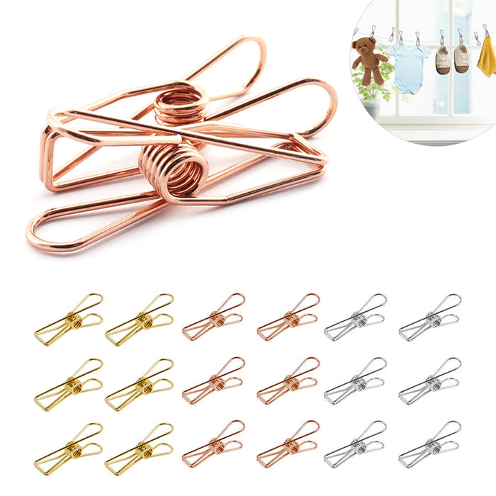 18 PC Multi-Purpose Sealing Clips Kitchen Food Bag Snack Clothespins Home Crafts