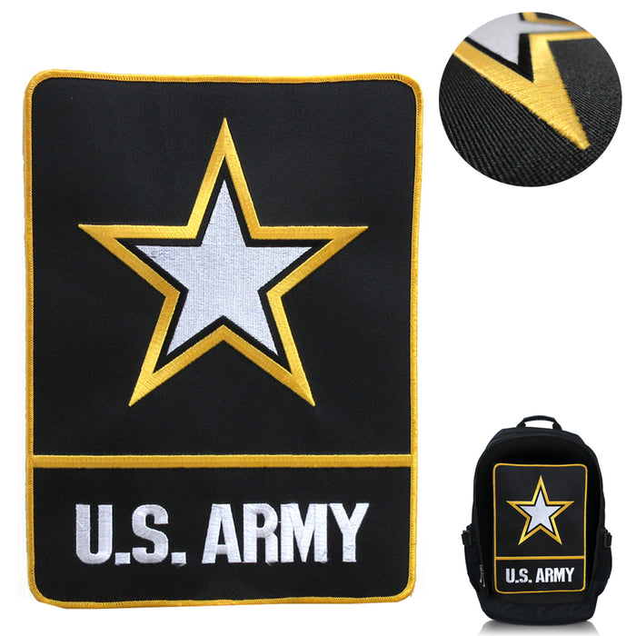"1 US Army X-Large Patch 10.5"" T x 8"" W Back Jacket Embroidered Patch Iron/Sew On"