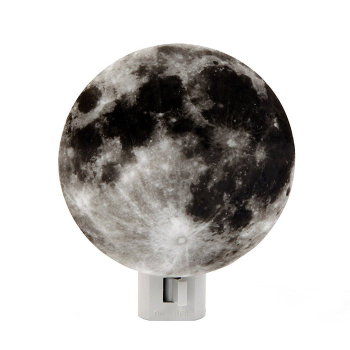 Moon LED Night Light Lunar Kids Bedroom Soothing Children Plug In Hallway Stairs