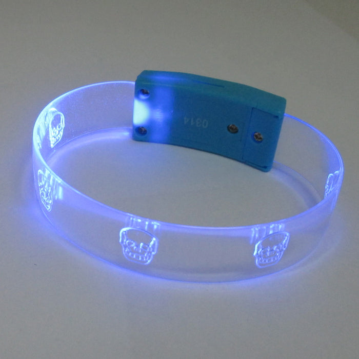 Set of 3 LED Light Up Bracelets Flashing Glow Bangle Party Favors Neon Wristband