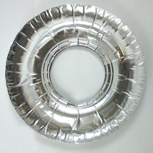 "40 Aluminum Foil Round Gas Burner Bib Liners Covers Disposable Wholesale 9"" New"