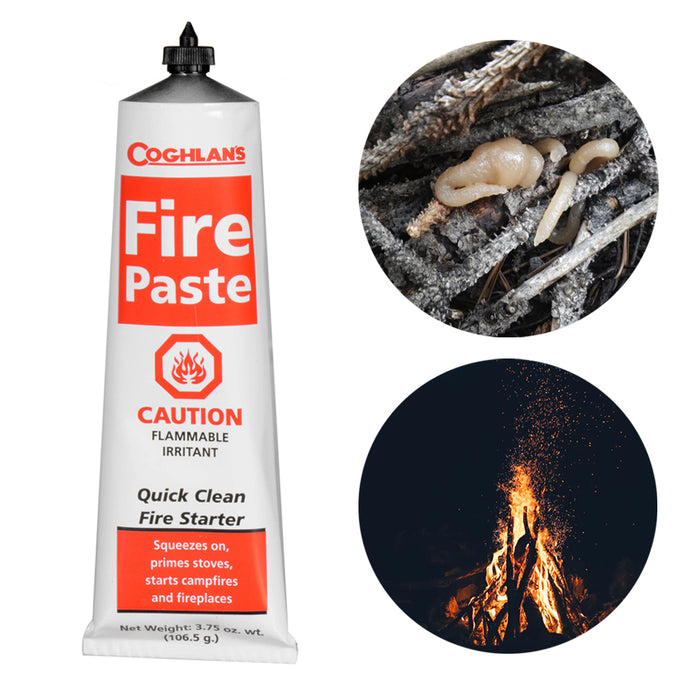 Coghlan's Fire Paste Survival Camping Fire Starters Odorless Emergency 3.75oz