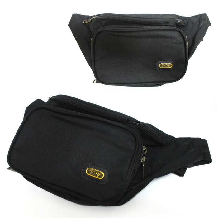 3X Waist Fanny Pack Adjustable Bag Travel Sports Pouch Men Women Hip Purse Black