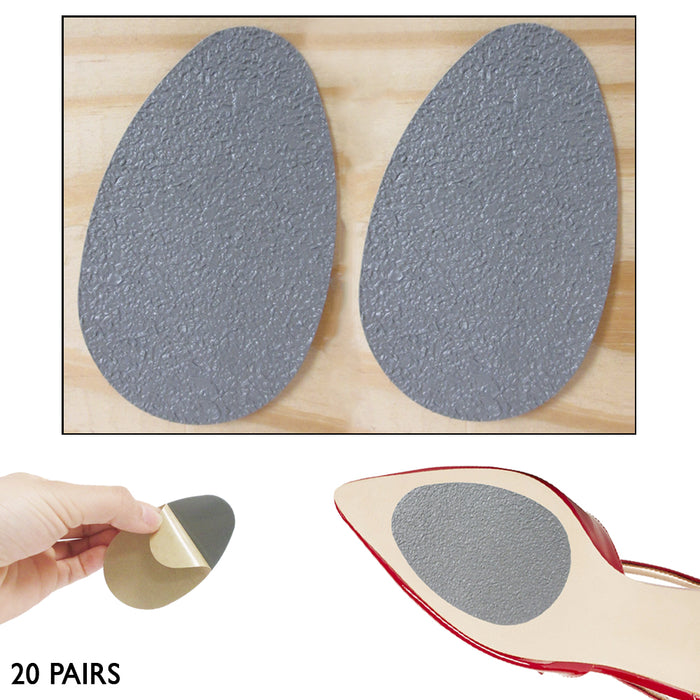 40 Lot Self Adhesive Anti Slip Shoe Grip Pads Sole Protector Cushion Replacement