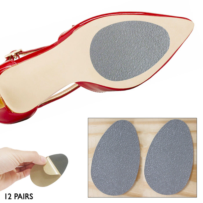 12 Pair Non Slip Cushion Anti Slip Pads Shoe Sole Grip Protector Replacement Lot