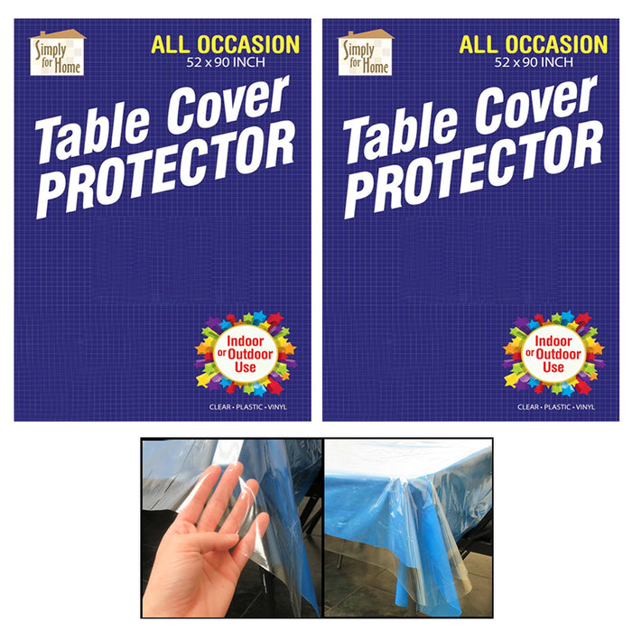 2X Clear Vinyl Tablecloth Protector Table Cover Wedding Banquet Party Waterproof