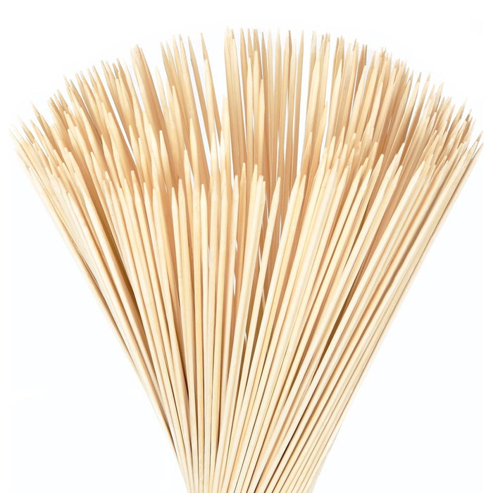 "500 Bamboo Skewers 12"" Wood Wooden Sticks BBQ Shish Kabob Fondue Party Grill Lot"