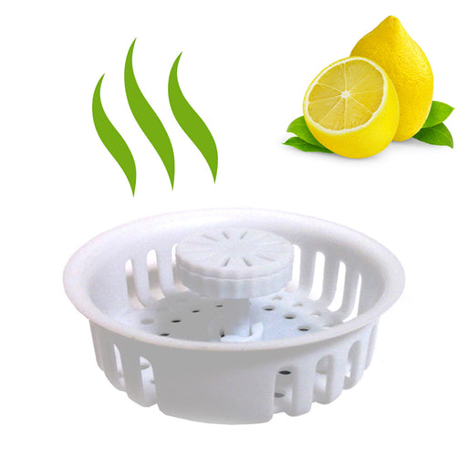 1 Scented Kitchen Sink Strainer Filter Basket Freshens Drain Protector Plastic