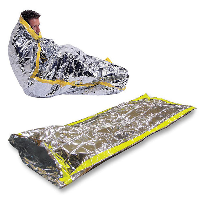 "2PC Outdoor Emergency Blanket Sleeping Bag 84"" x 46"" Survival Reflective Camping"