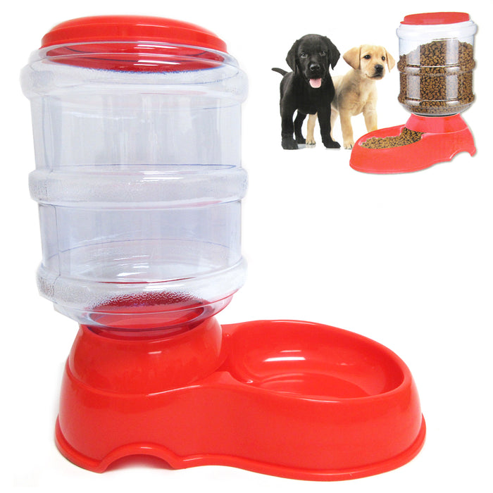 3.5L Automatic Pet Feeder Food Dish Bowl Cat Dog Dispenser Station Replenish New