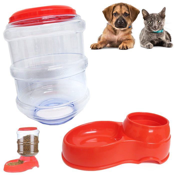 Pet Dog Cat Waterer Automatic Dispenser Drink Feeding Dish Replenish Bowl XLarge