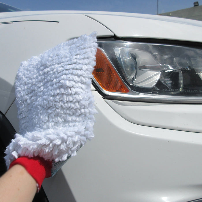 3X Jumbo Car Wash Washing Chenille Mitt Cleaning Glove Dual Sided Heavy Duty USA