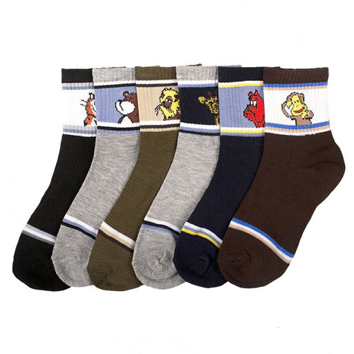 12 Pairs Baby Boy Socks Newborn Infant Size Ages 0-12 Months Carttoon New Lot !