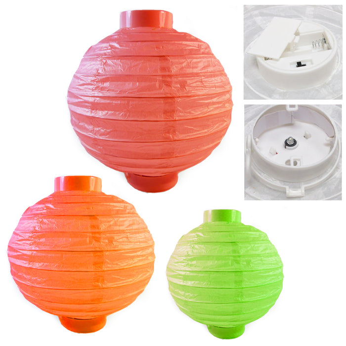 5X Chinese Paper LED Lanterns Lamps Wedding Party Decoration Festival Lights New