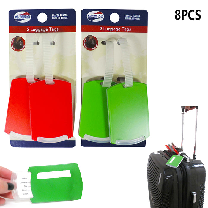 8 Pack Travel Luggage Bag Tags Suitcase Baggage Name ID Address Label Waterproof