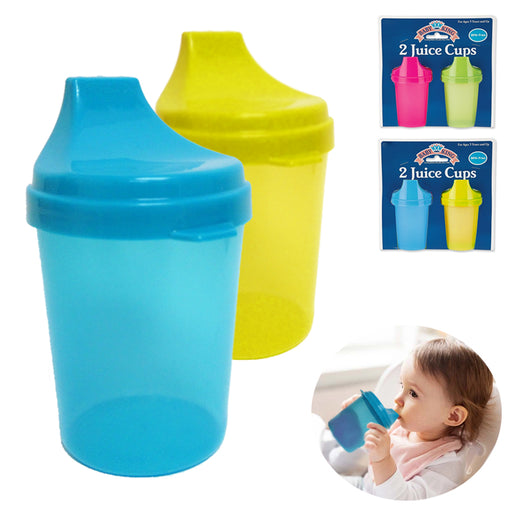 2PK Kids Cups with Lids Toddler Trainer Sippy Cup Drinking Juice Bottle BPA Free