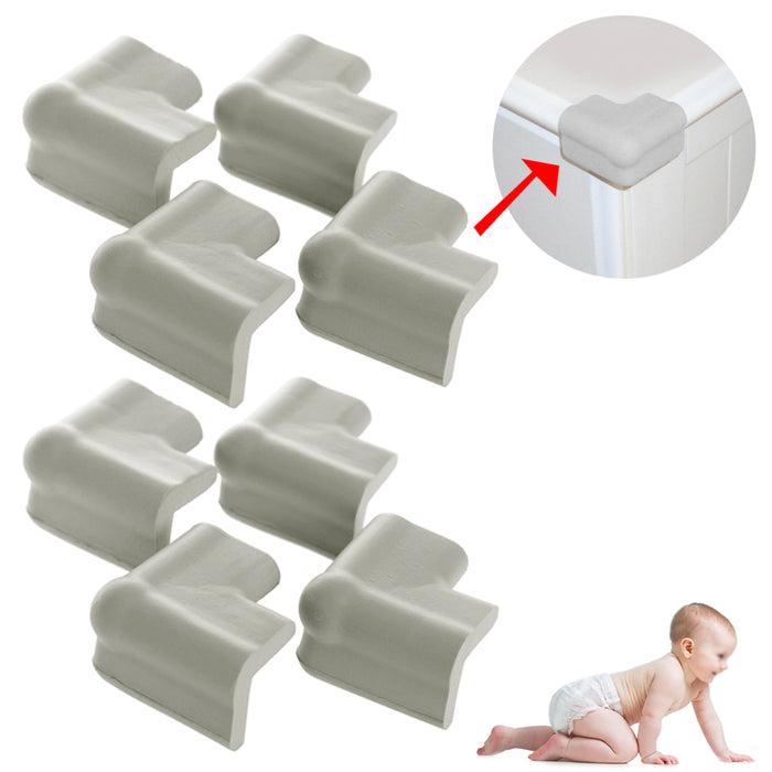 8 Soft Foam Corner Cushions Baby Proofing Edge Guards Child Safety Table Bumpers