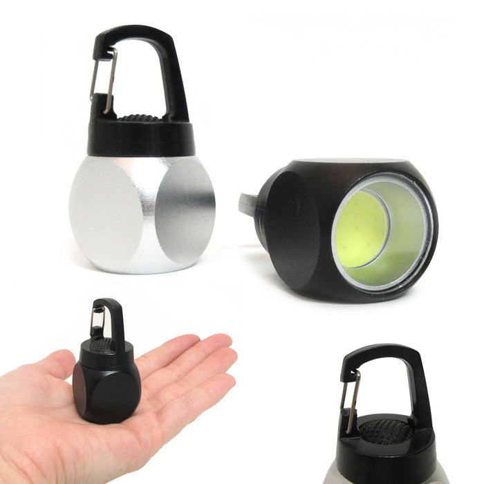 4PC Pocket Flashlight COB LED Torch Bright Portable Keychain Camping Hiking Gift