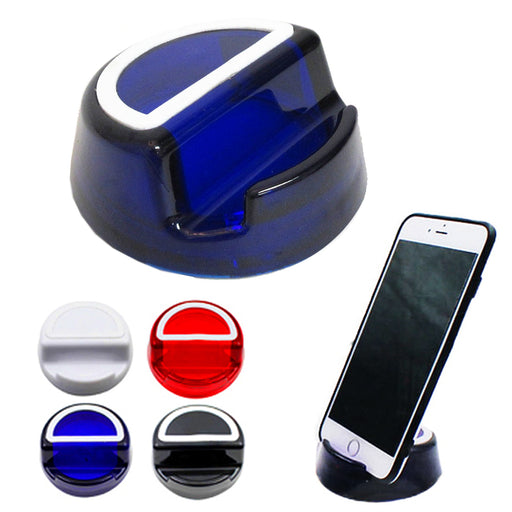 1PC Cell Phone Stand Holder Cradle Dock iPhone Android Round Mount Silicone Grip