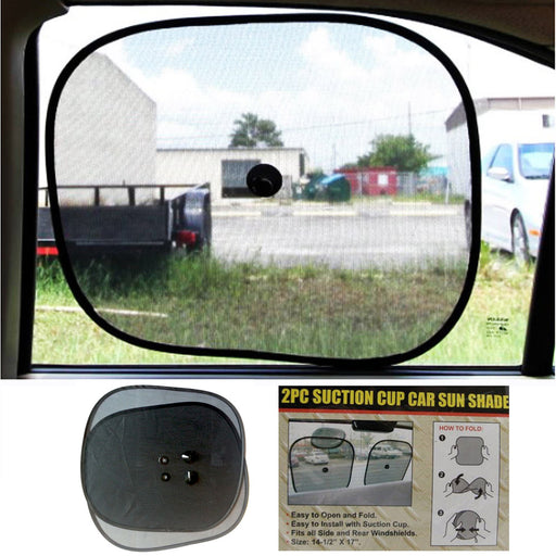 2 Sun Shade Visor Shield Side Rear Window Car Auto Mesh Screen Baby Sunscreen !