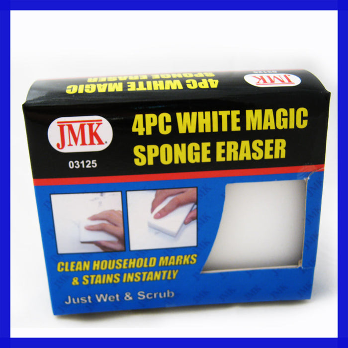 4 PC White Magic Sponge Eraser Cleaner Wash Washing Marks Stains Household Block