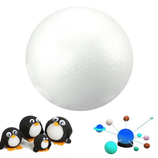 "2X Foam Ball White 5"" Science Modelling Sphere Arts Crafts Floral Decor Garden"