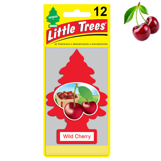 12X Little Trees Wild Cherry Scent Air Fresheners Car Auto Pack Home Hang Office