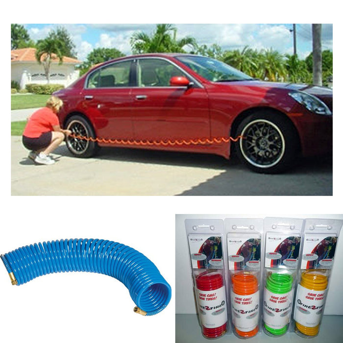 Auto Flat Tire 2 Tire Pressure Exchange Jumbo Hose Gauge Air Exchanger Car Truck