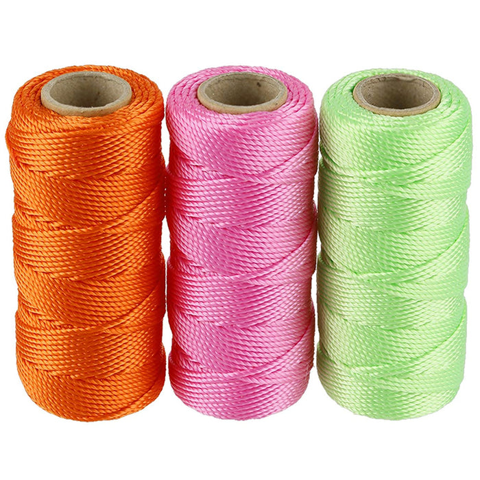 3X Twisted Mason Construction Line #18 Measuring Layout String Green Pink Orange