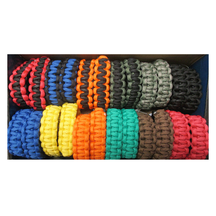 2 Pack 550 Paracord Survival Bracelet Camping Tactical Rope Cord Outdoor Kit New