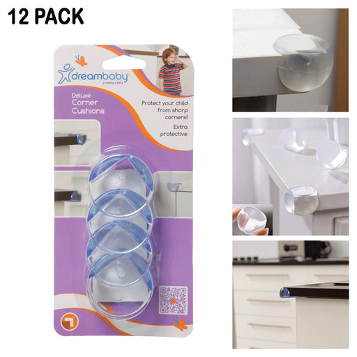 12PC Corner Protectors Child Baby Proof Safety Bumpers Clear Protective Cushions
