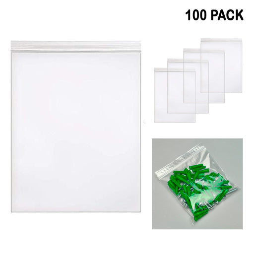 100PC Clear Resealable 1 Mil Poly Bags 8X10 Reclosable Zipper Lock Plastic Bag