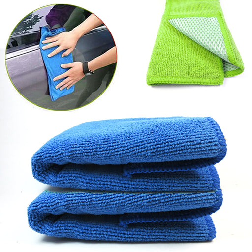 2 X Microfiber Cloth Cleaning Towel Polishing Auto Car Detailing No Scratch Dust