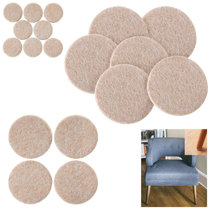 152Pc Furniture Table Chair Leg Felt Floor Scratch Protectors Pads Self Adhesive