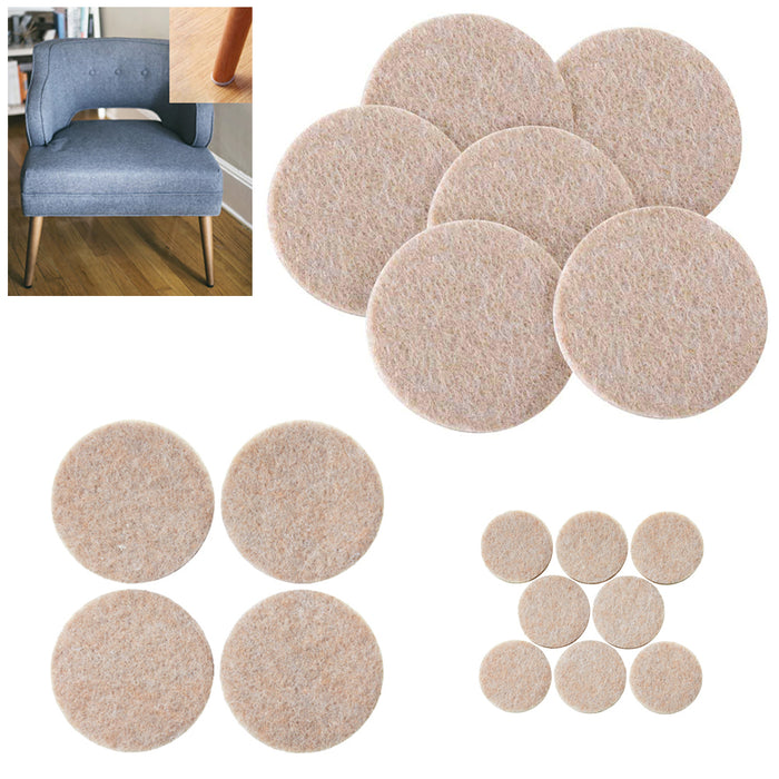 76PCS Furniture Pads Self Adhesive Felt Foam Floor Scratch Protector Chair Table